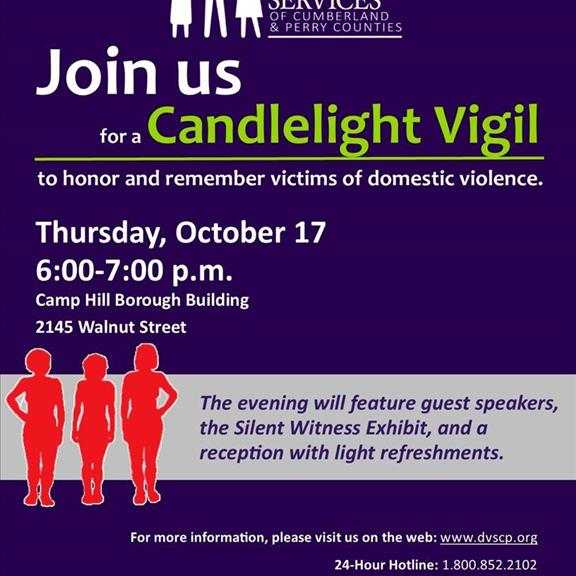Domestic Violence Awareness Month - Annual Candlelight Vigil
